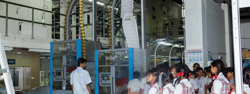 Perks Students visit The Hindu News paper press in coimbatore